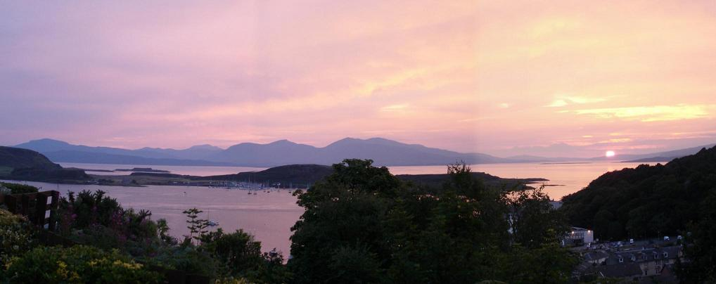 View to Mull from Self Catering Apartment in Oban